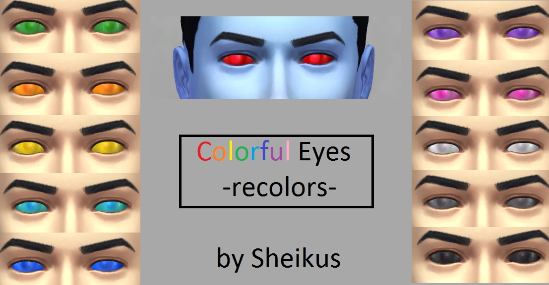 Mod The Sims Colorful Eyes Recolors