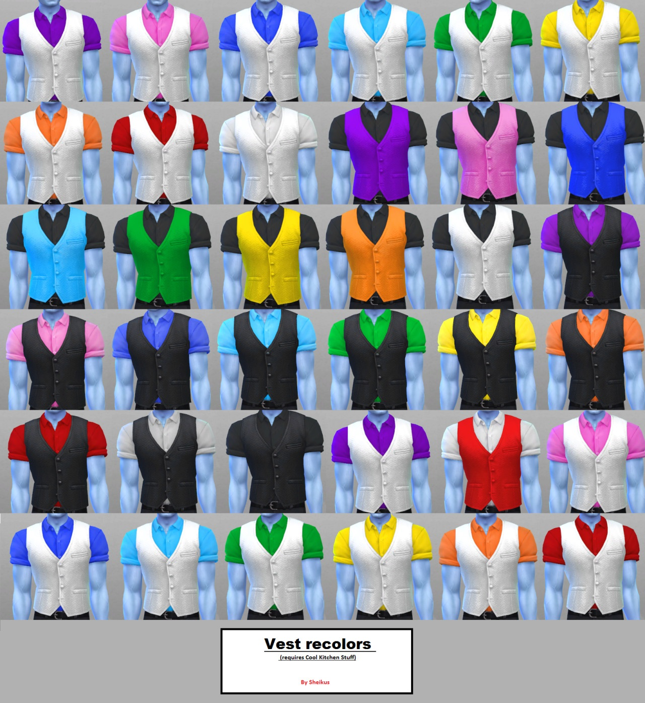 Cool Kitchen Stuff: Male Vest Recolors