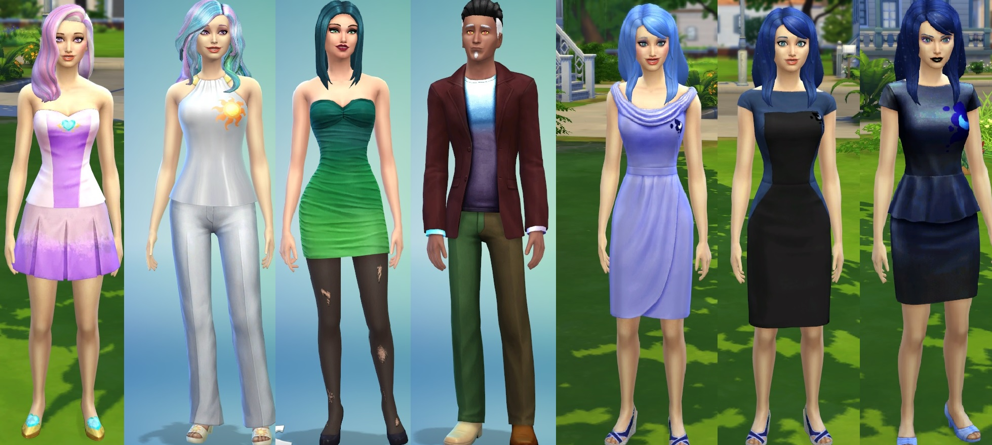 mod the sims princesses and villains of mlp