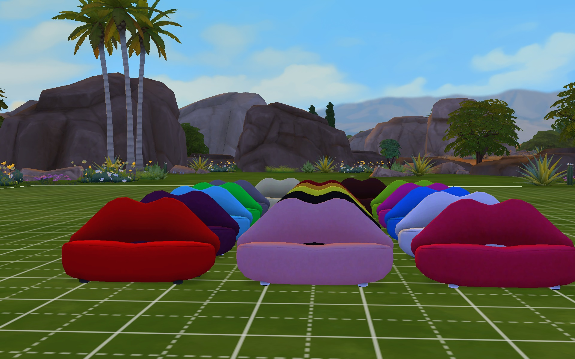 Mod The Sims Updated Lips Of Loveseat Ts3 To Ts4