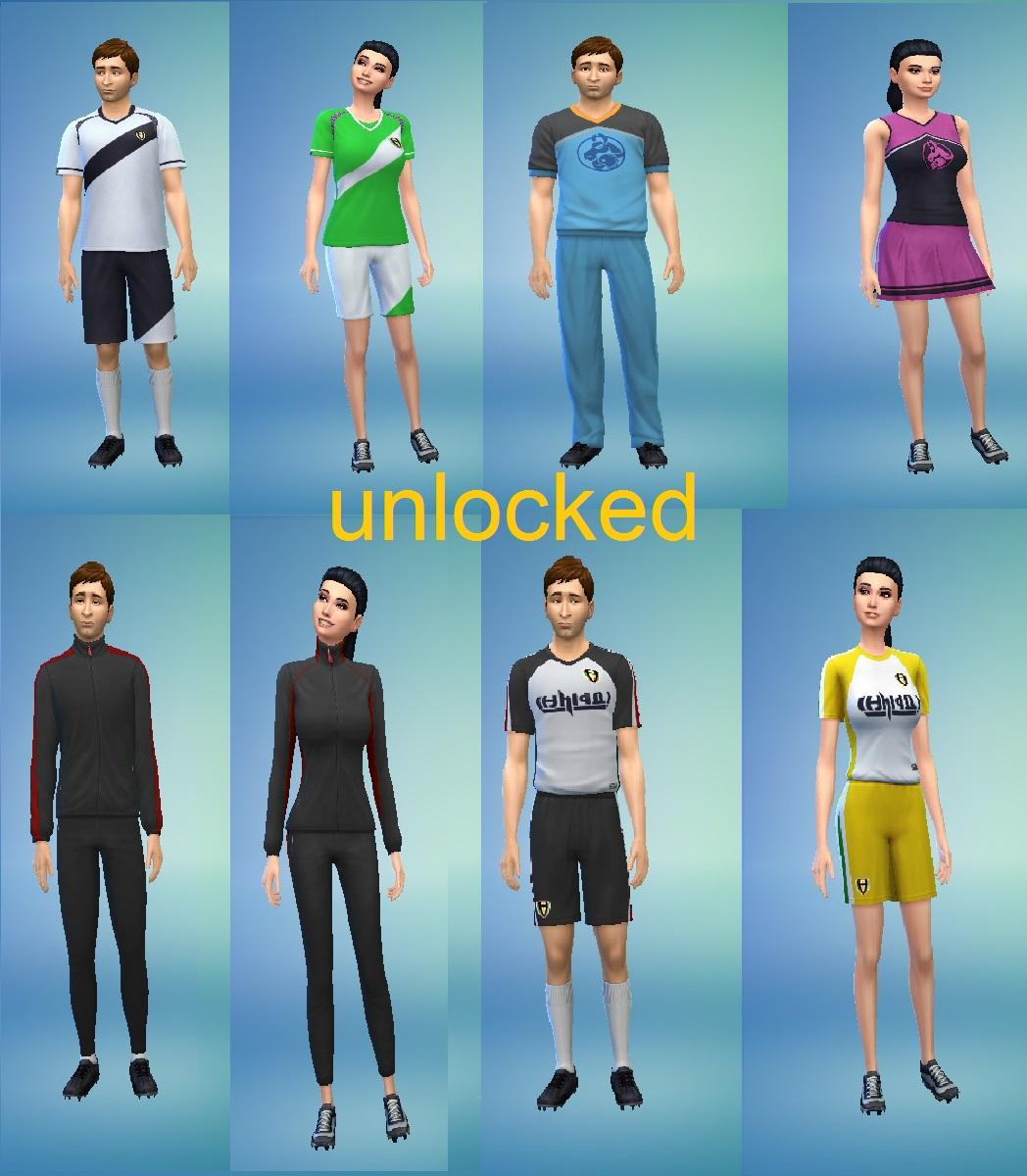 322aa38c29 Mod The Sims - athlete career clothes unlocked