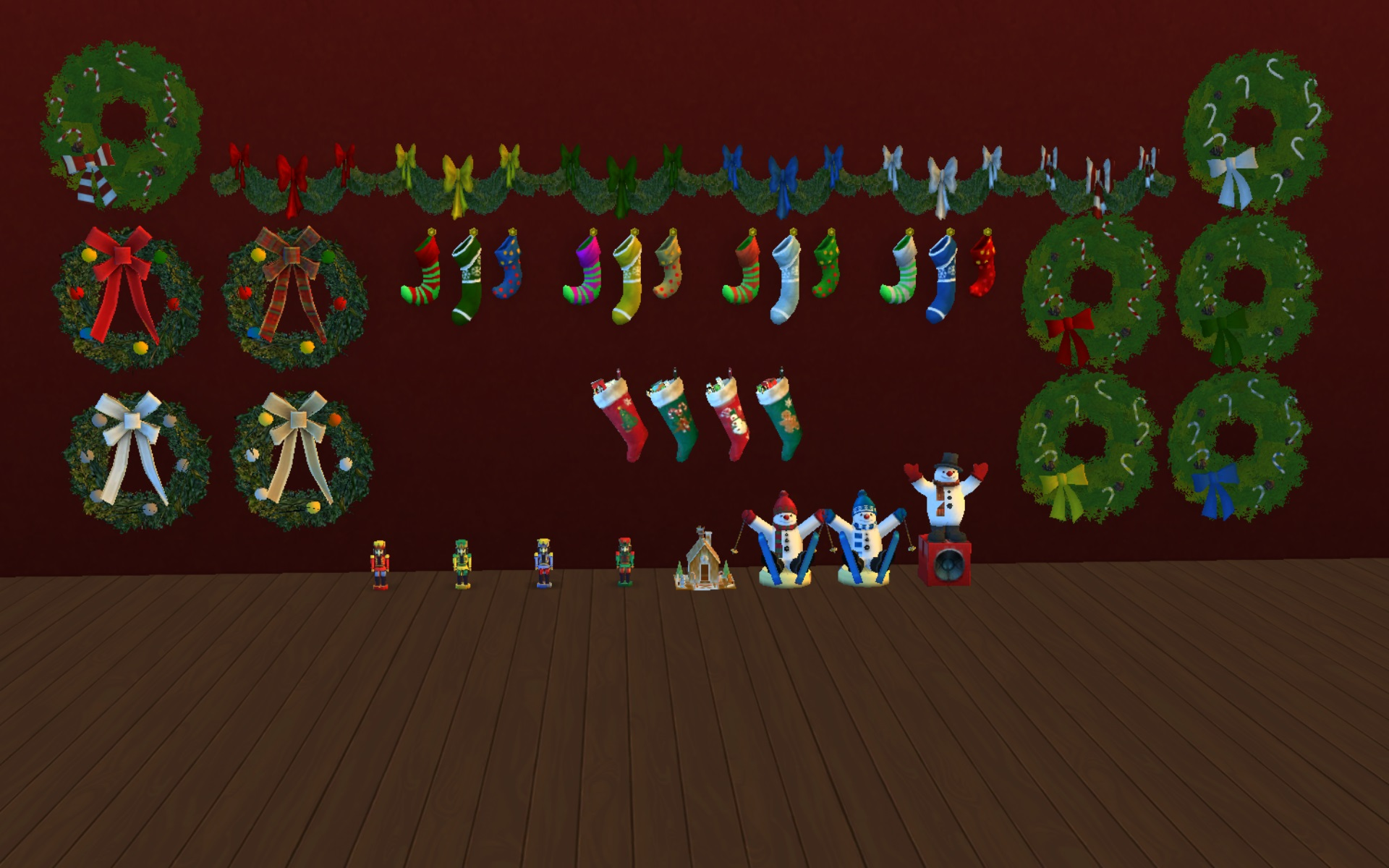 Mod the sims fixed the sims christmas holiday pack for Decoration 4 christmas