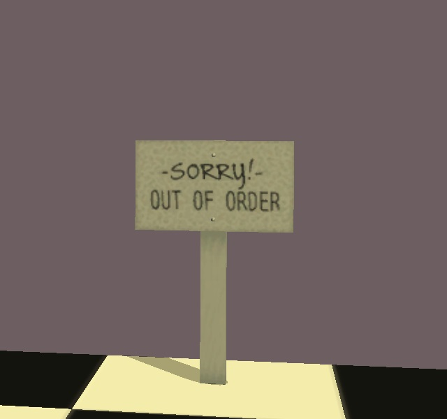 Mod The Sims Quot Out Of Order Quot Sign From Five Nights At