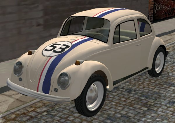 "Mod The Sims - 1965 VW Bug ""Herbie"" recolor (now with required mesh)"