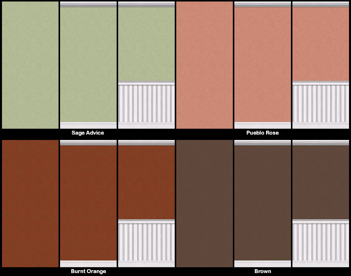 Mod The Sims - *Updated* Painted Walls-Series 03 Sims 1 Walls