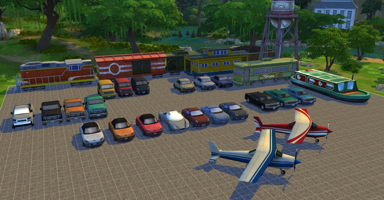 vehiculos en los sims 2: