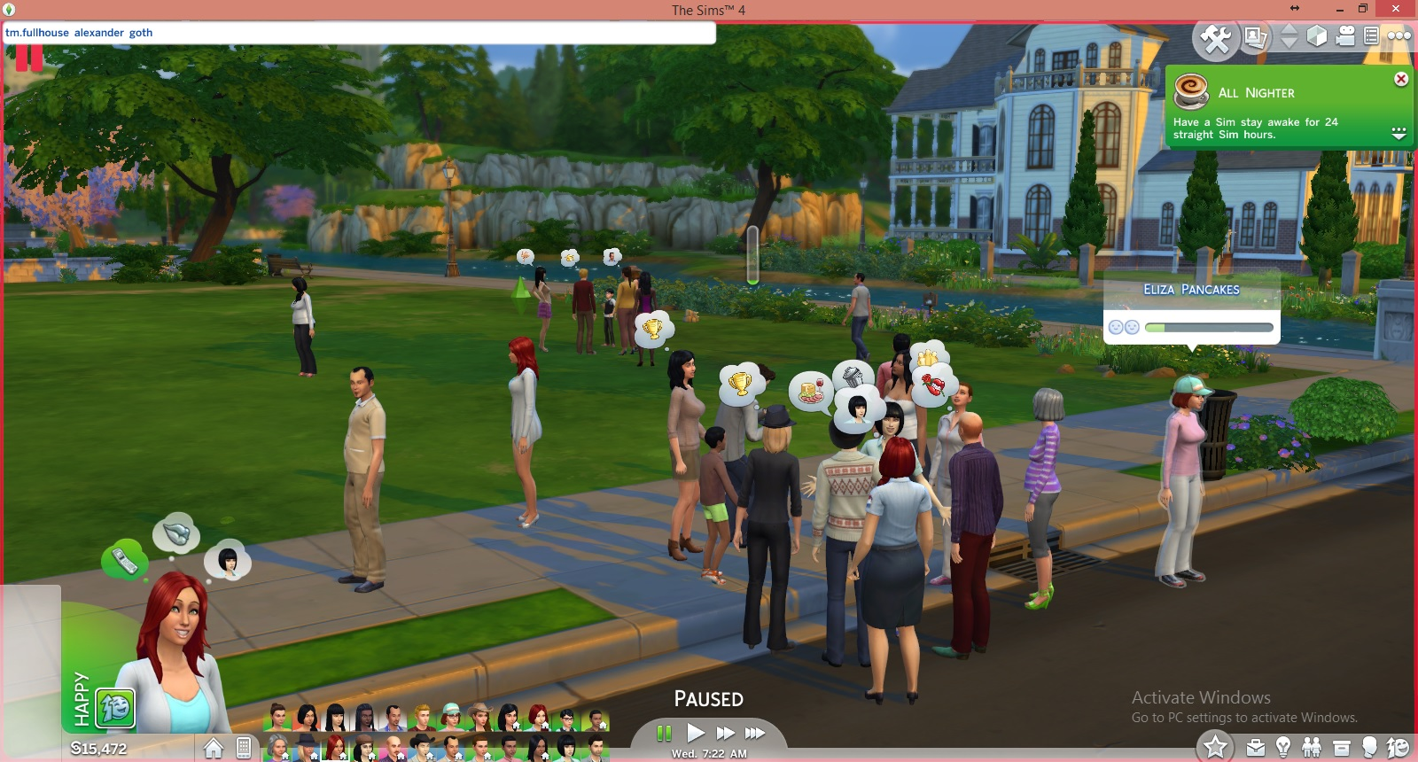 Mod The Sims - Full House Mod - Increase your Household Size! [Still