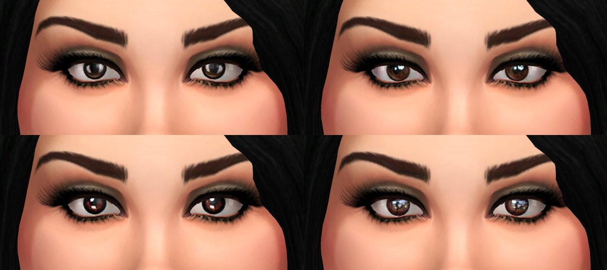 Mod The Sims - Lana - Brown Eyes Set