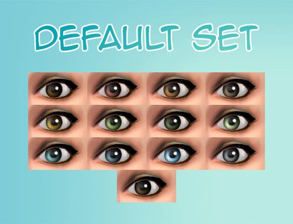 Mod The Sims - Heliantheas super bland comic eyes (default