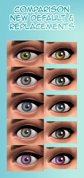 Mod The Sims - Heliantheas super bland comic eyes (default