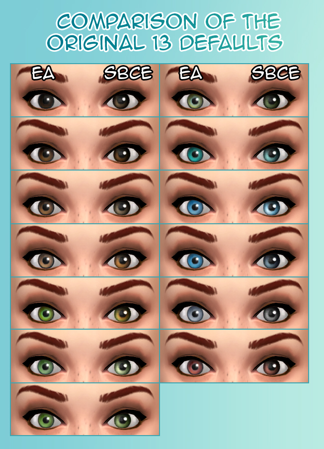 What S Your Favorite Default Eye Replacement The Sims Forums