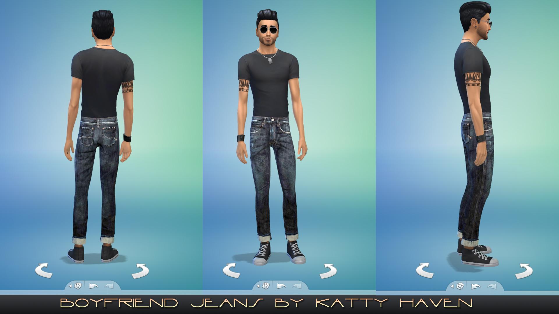 Mod The Sims - Boyfriend jeans for men