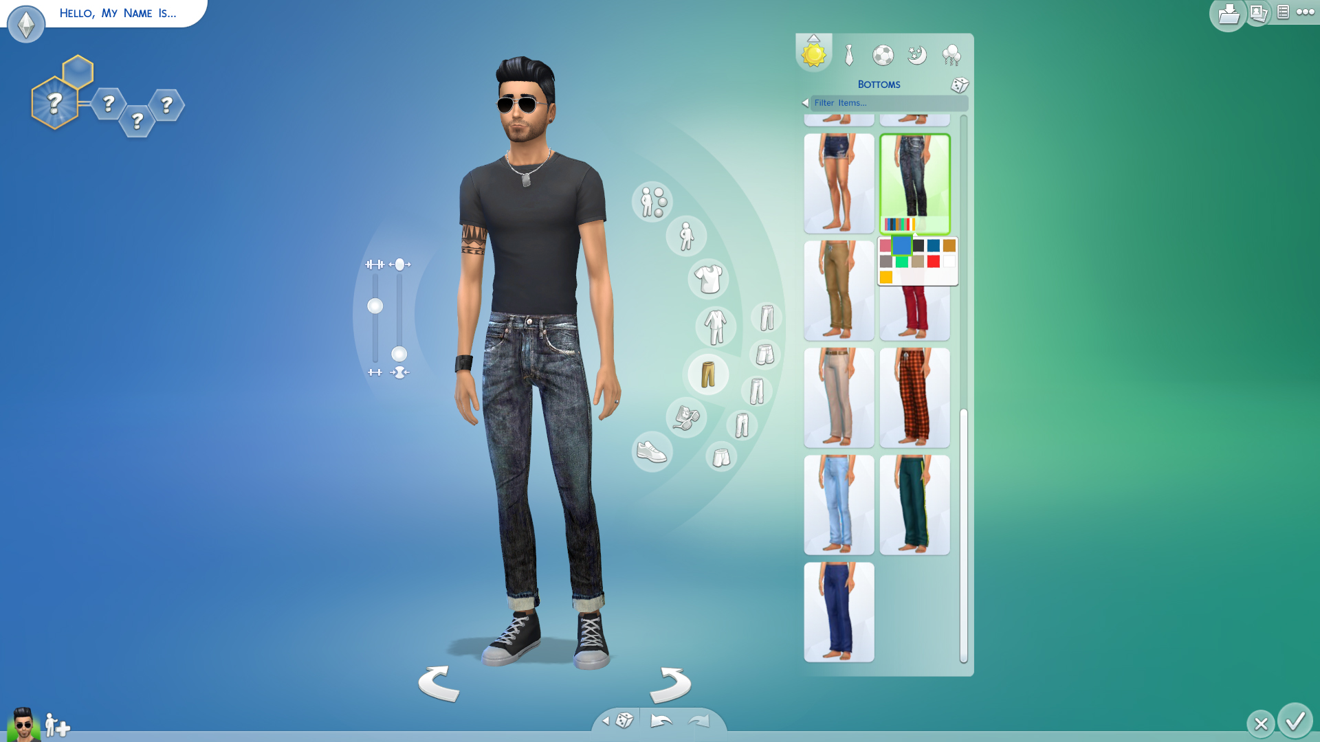 Mod The Sims - Boyfriend jeans for men