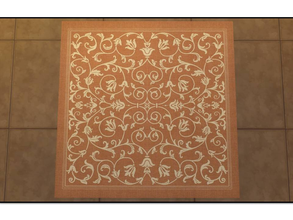 Mod The Sims Courtyard Indoor Outdoor Rugs Square