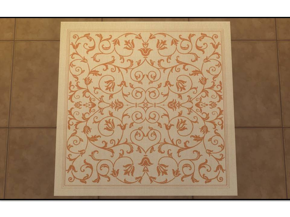 Mod The Sims - Courtyard Indoor/Outdoor Rugs (Square)