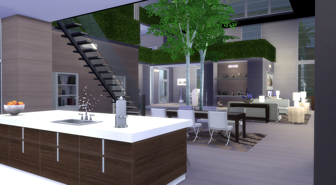 Mod the sims arbo domo for Casas modernas the sims 4