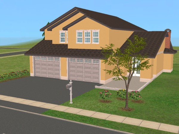 Mod the sims 25 maple street 2 story family home based for 2 family house plans