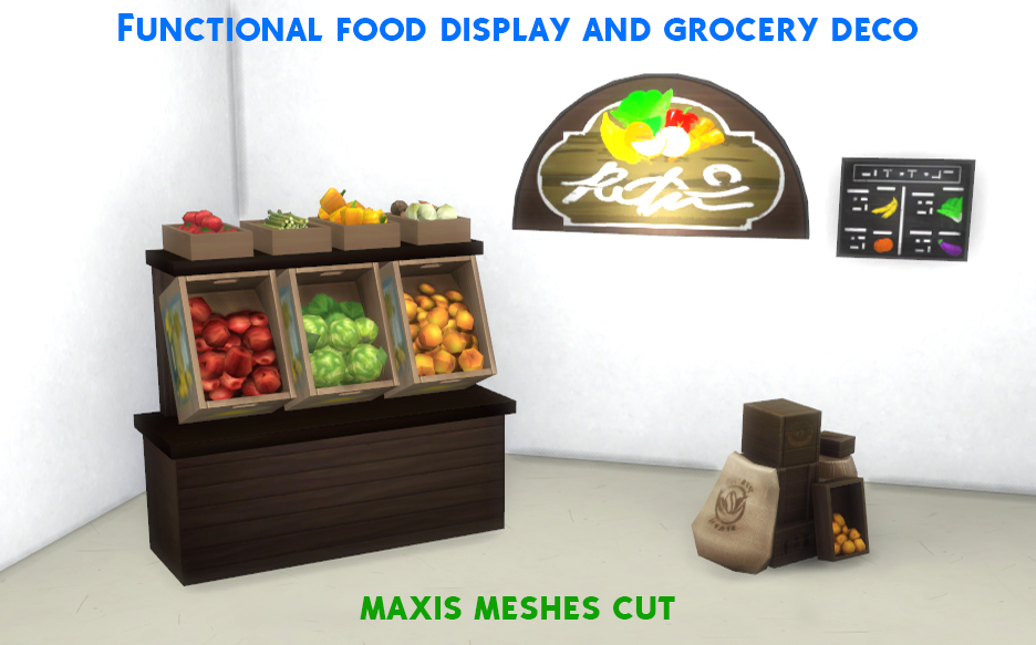 Mod The Sims Functional Grocery Set Cut Meshes Fixed