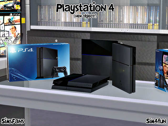 Mod The Sims Sony Ps4 Console Regular And Stand Version