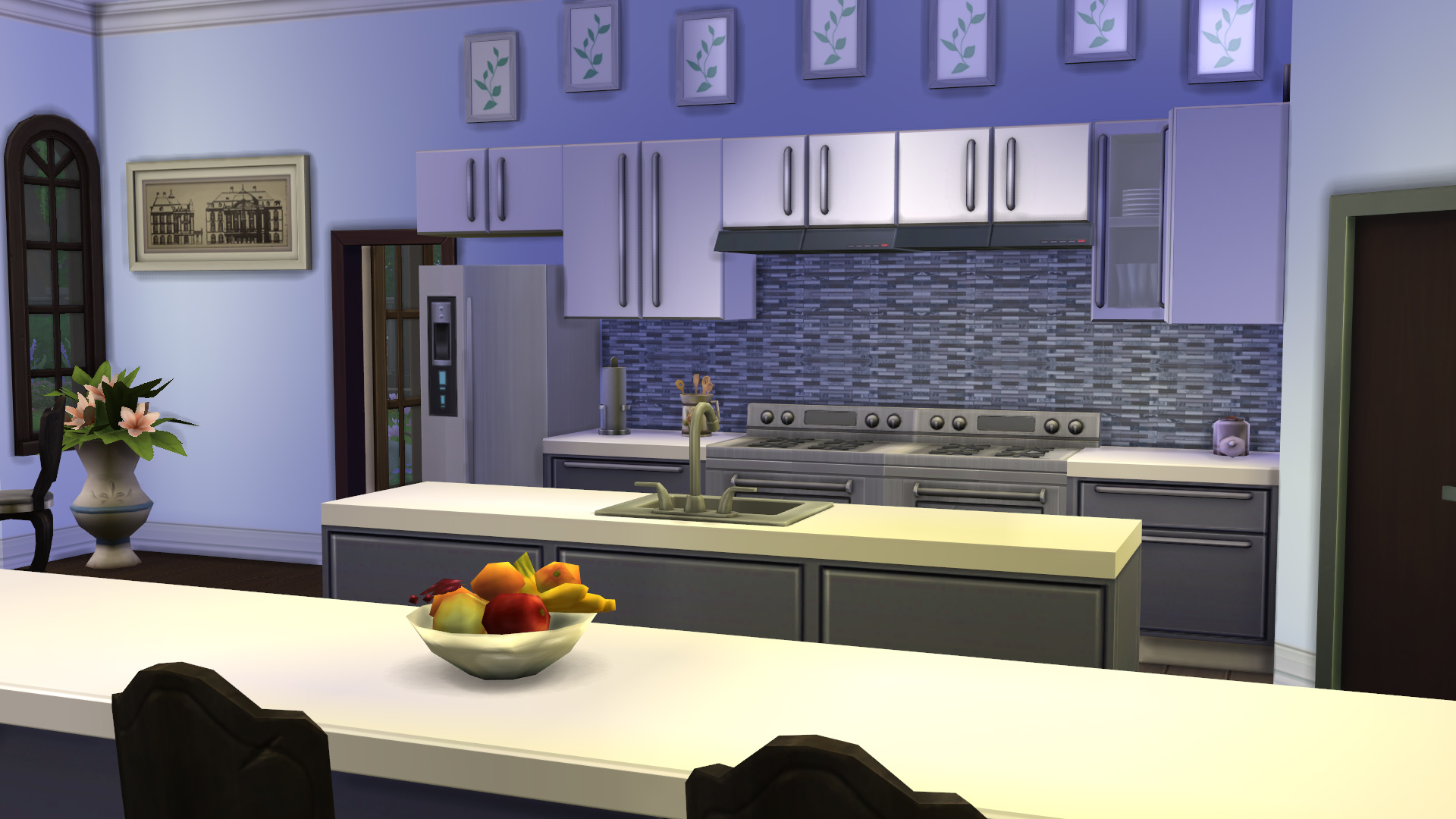 Mod the sims modern kitchen backsplashes for Deco murale 3 couverts