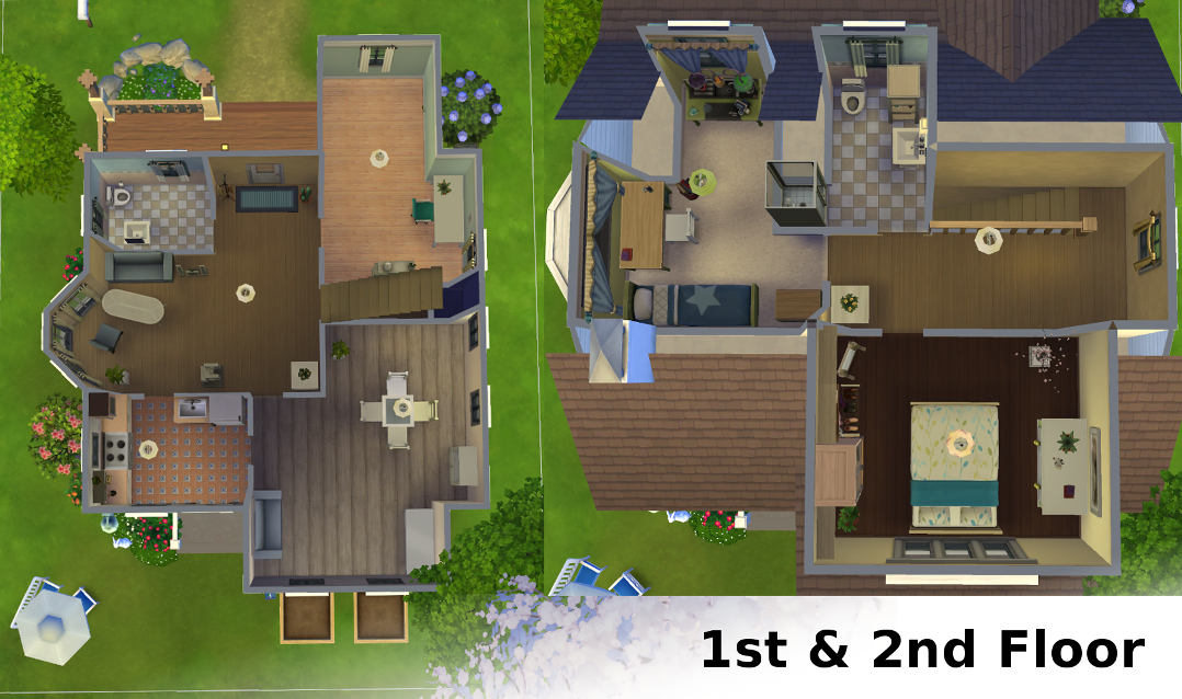 4 bedroom house designs home decor ideas for Sims 4 house plans