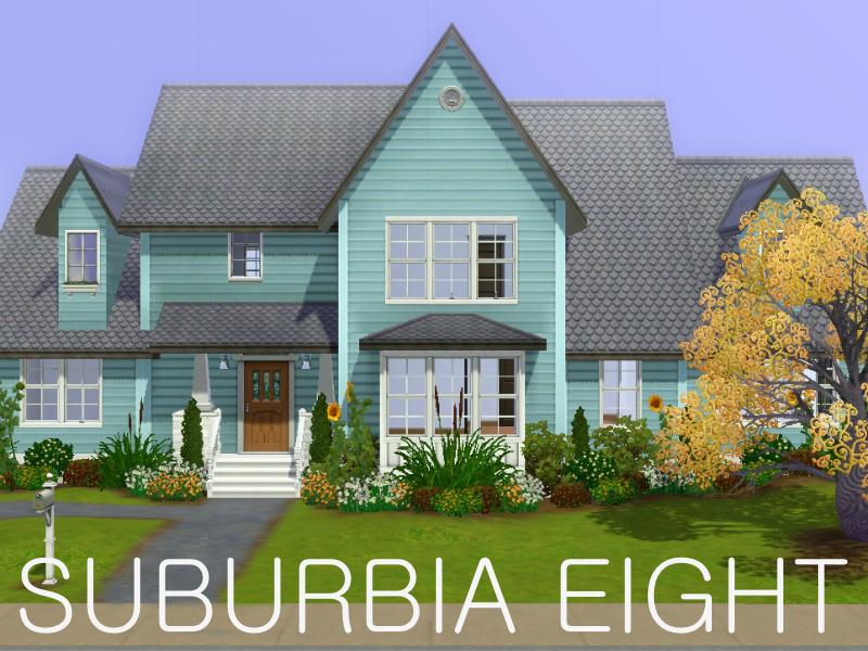 Fab House mod the sims - suburbia pre-fab house eight (base game)