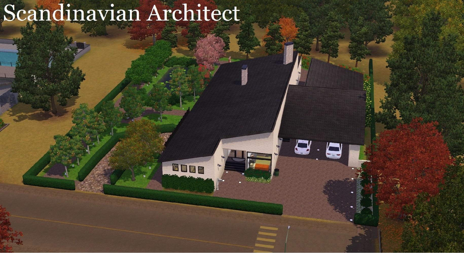 70s modern scandinavian architect designed house