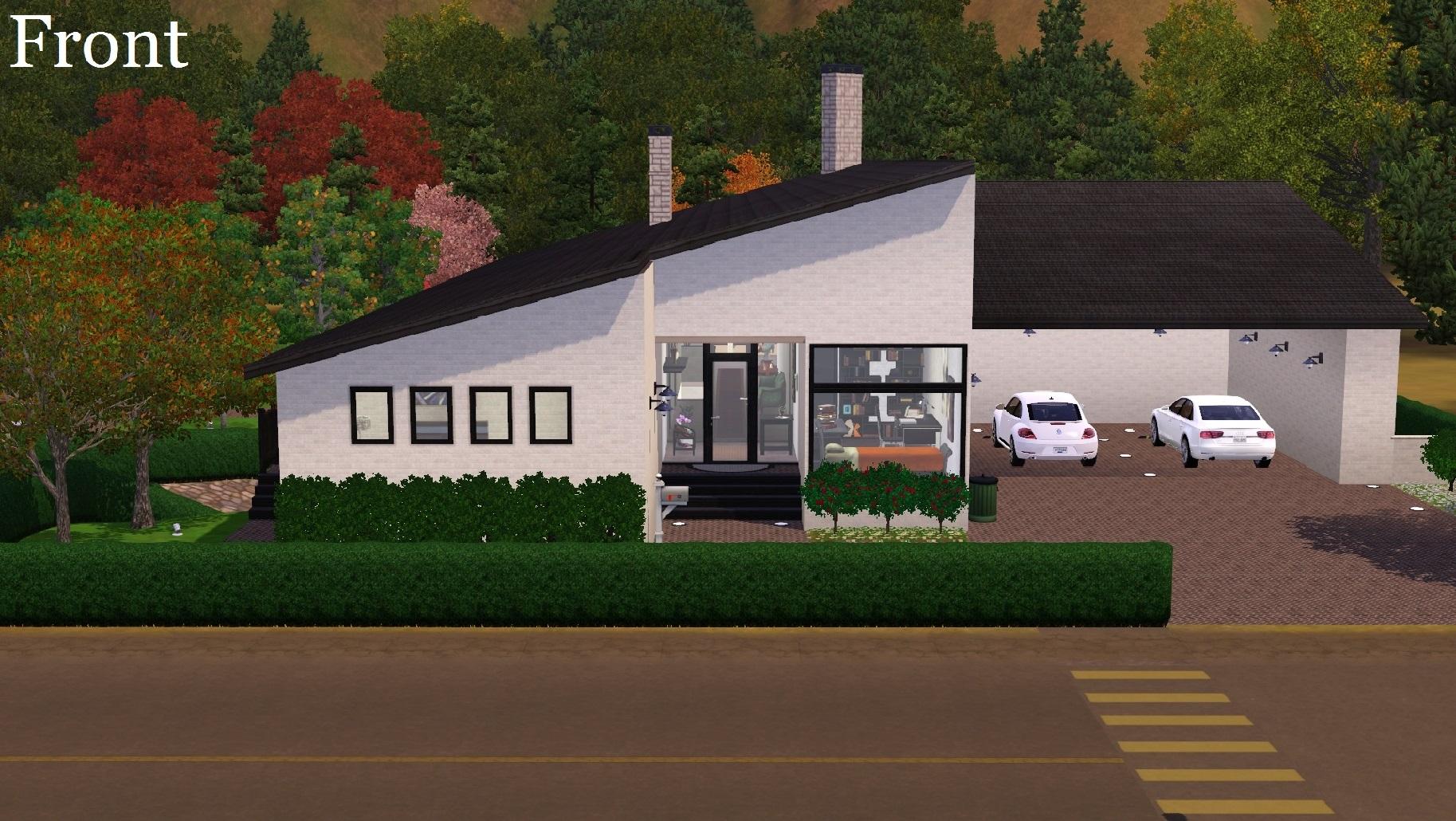 Mod the sims 70s modern scandinavian architect designed for Modern 70s house
