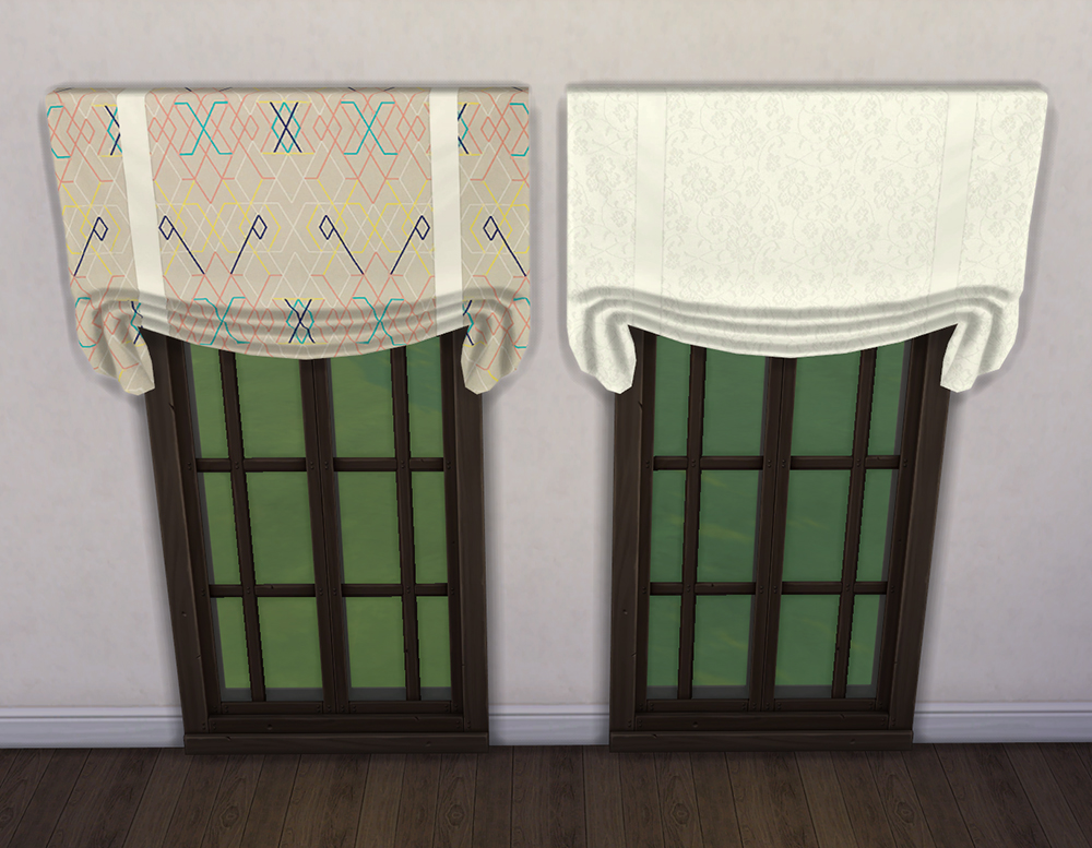 Mod The Sims 18 Quot Garbo Hanging Quot Curtain Stand Alone Recolors