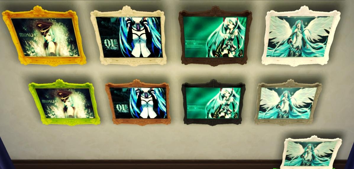 Mod The Sims Hatsune Miku Wall Painting