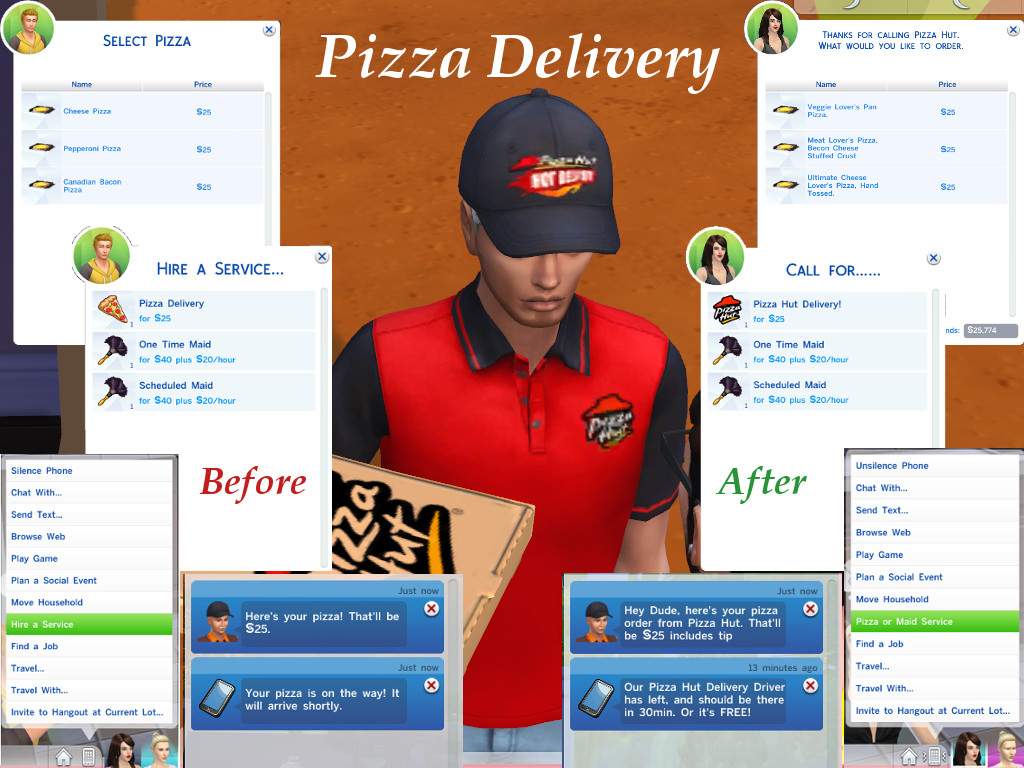 mod the sims the pizza posse mod