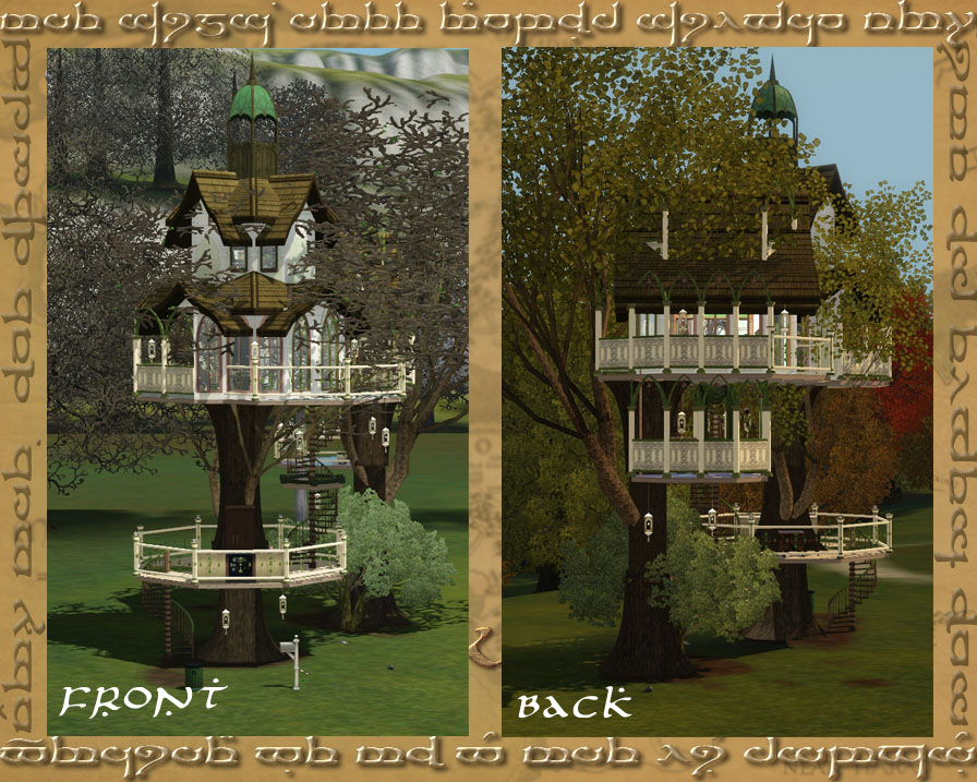 Mod The Sims Talan Tad Galadh Two Tree Two Bed Elven Home