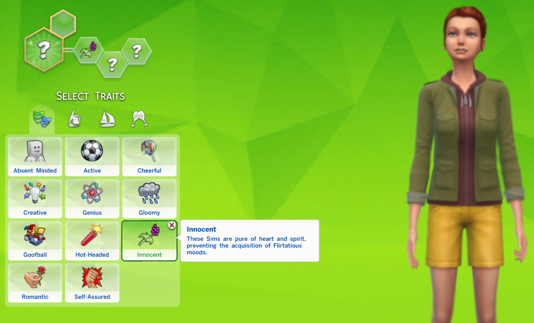 Mod The Sims - Innocent Trait