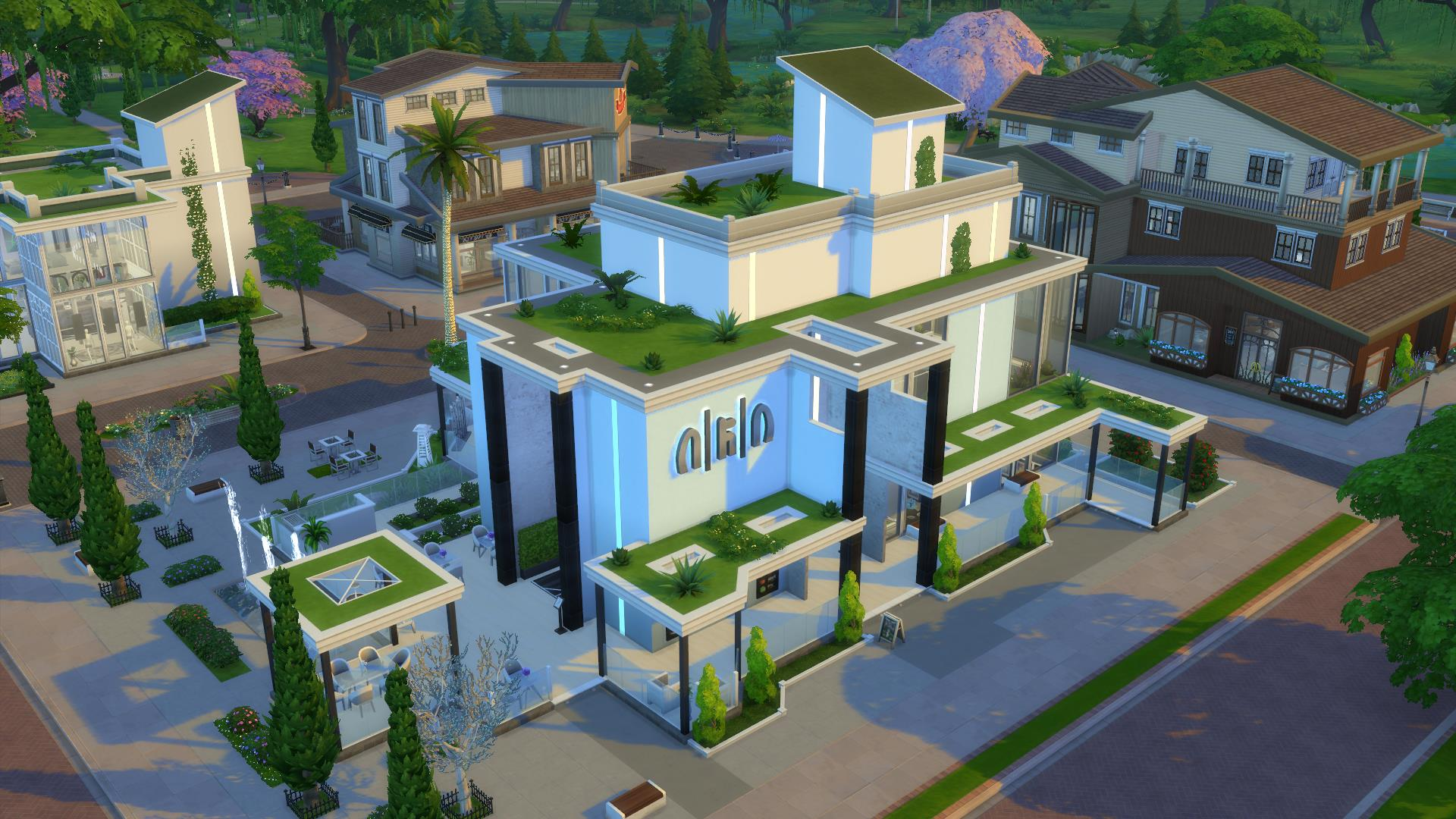 Mod the sims arcadia greens no cc restaurant