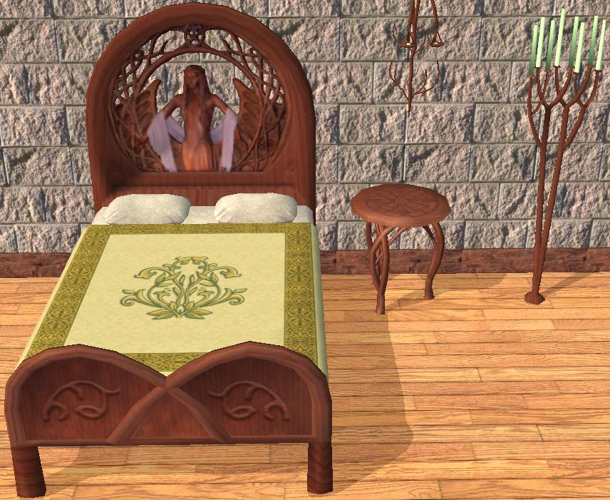 mod the sims elven bedrooms and bedding. Black Bedroom Furniture Sets. Home Design Ideas