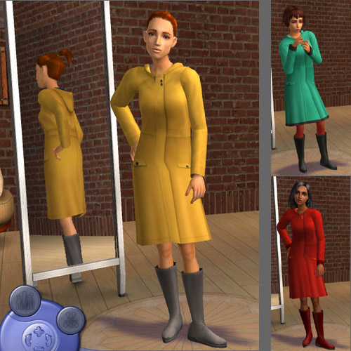 Mod The Sims - Teen Raincoat (mesh)