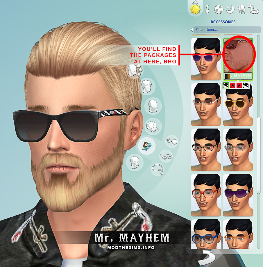 Jax Teller Sunglasses  mod the sims sons of anarchy sunglasses