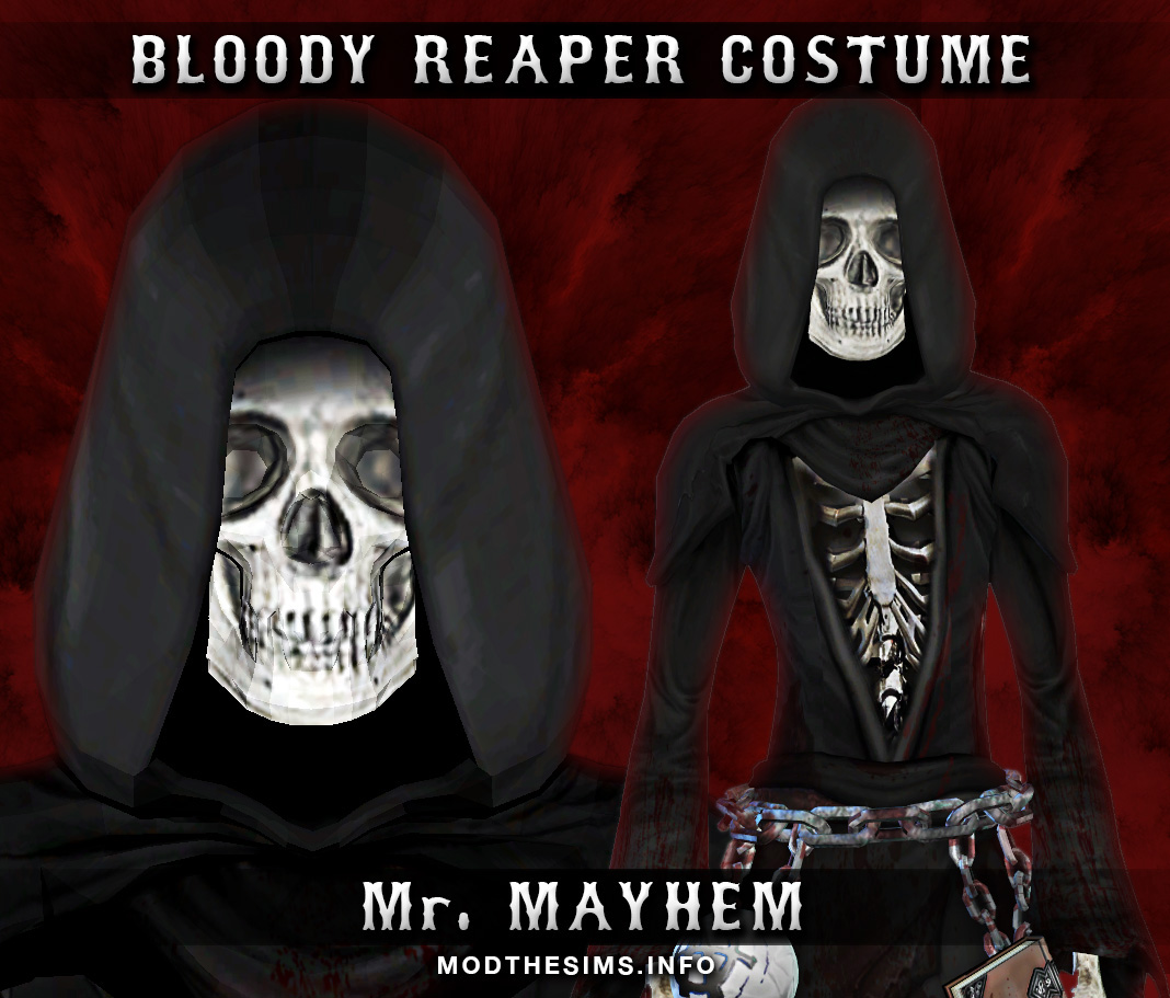 Mod The Sims New Mesh Costume Bloody Reaper Costume Sons Of