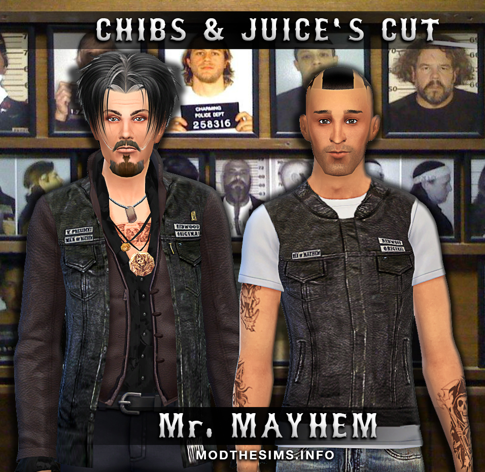 Mod the sims chibs amp juice s cut sons of anarchy