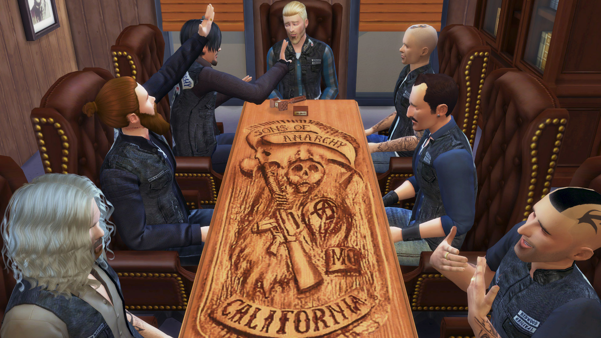 Mod The Sims Carved Reaper Table Sons of Anarchy s Table