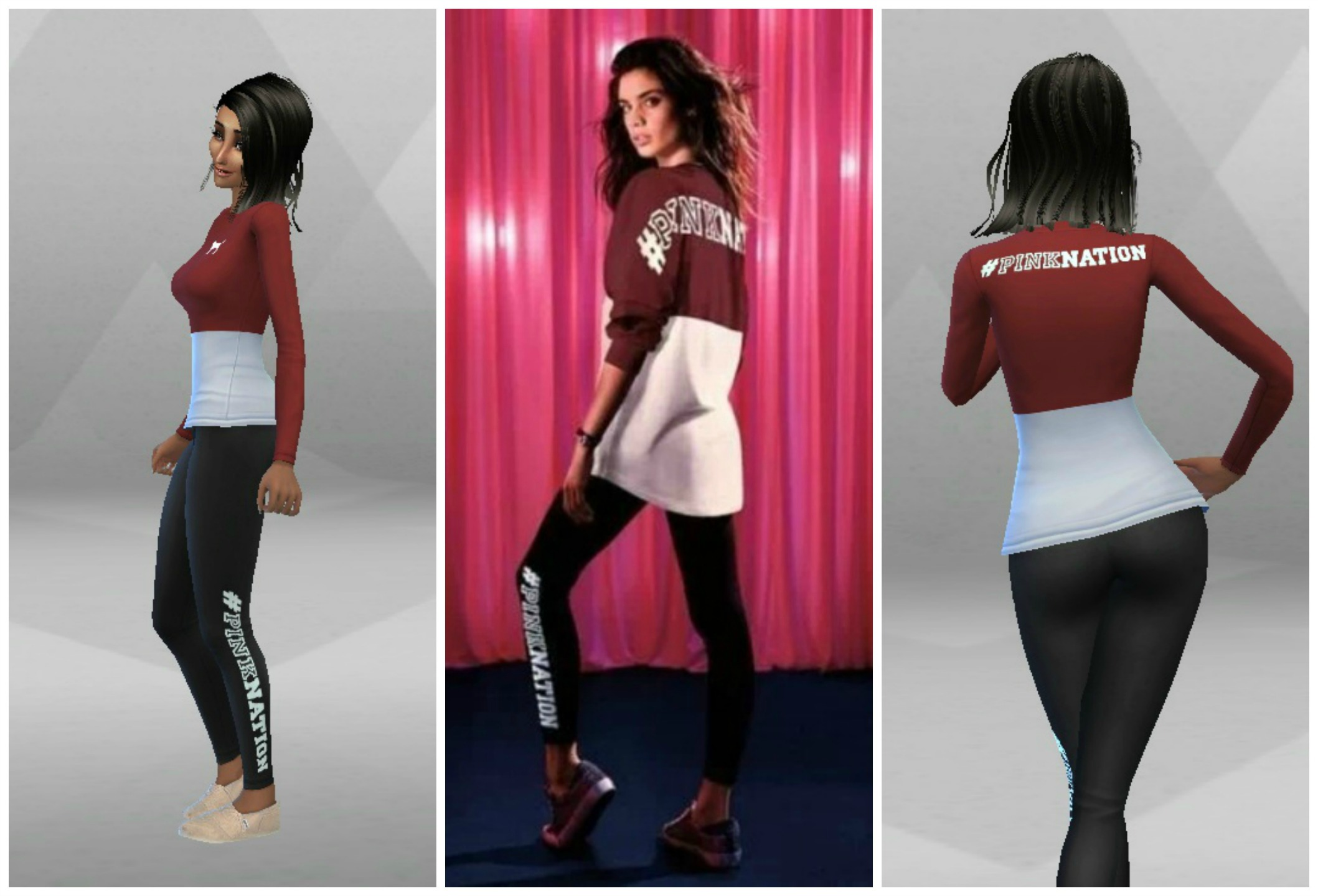 4f7ad6a52ff78 Mod The Sims - Victoria s Secret Pink Nation Limited Edition Shirt ...