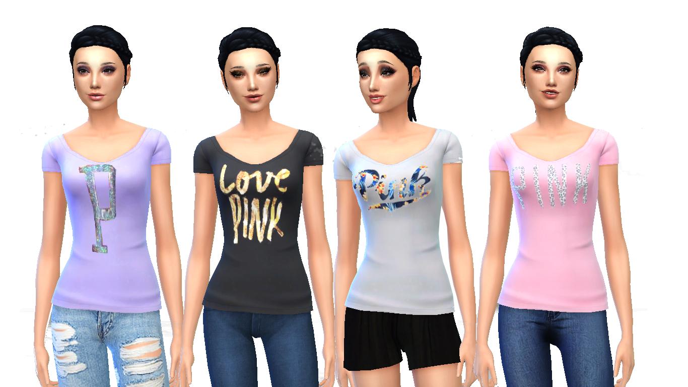 d179d12a088fd Mod The Sims - Victoria s Secret PINK Sequin Shirt Collection