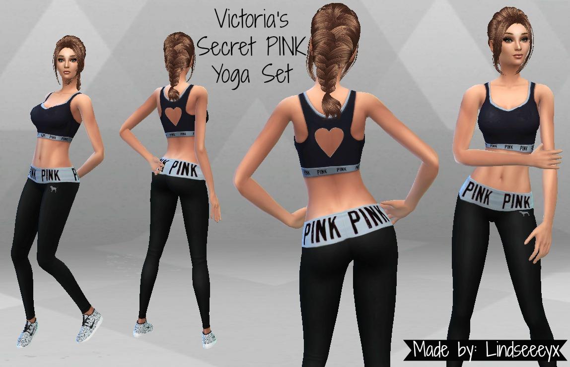 759c95a3010c1 Mod The Sims - Victoria s Secret PINK Yoga Set