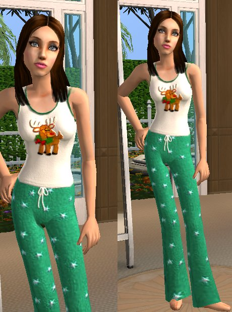 Mod The Sims - Christmas Pajamas for Teen