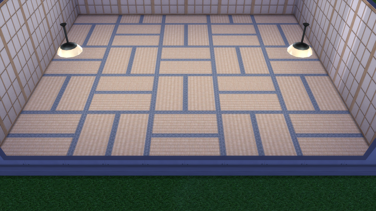Mod The Sims - Japanese Style Wall and Floor Set - by Graphite91