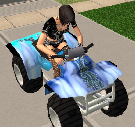 Mod The Sims Quad Bike Rideable
