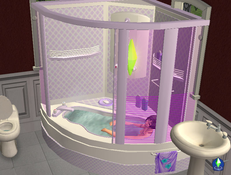 Mod The Sims Corner Bath And Shower Unit NOW FULLY Working 2011