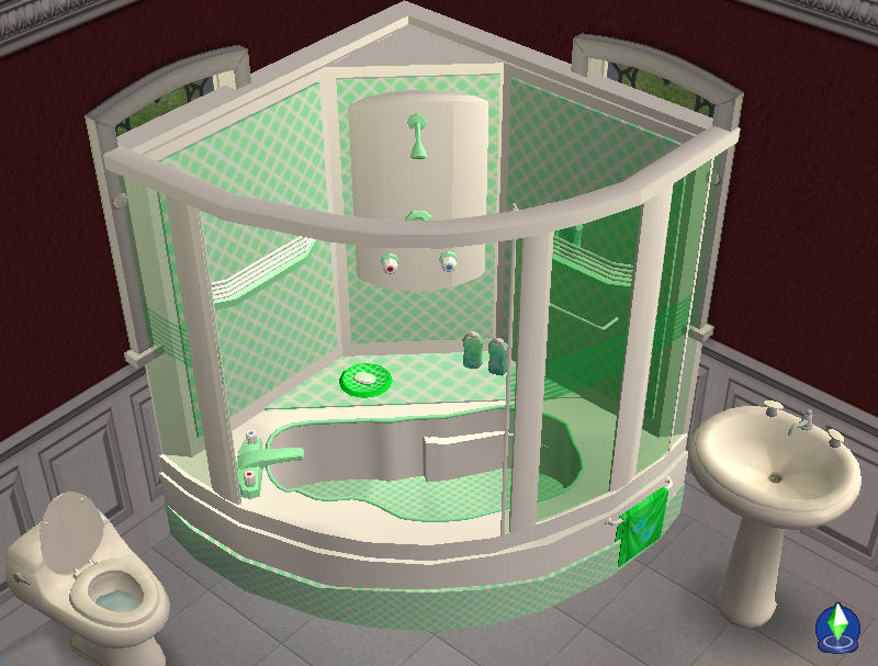 Mod the sims corner bath and shower unit now fully for Bathroom ideas sims 3