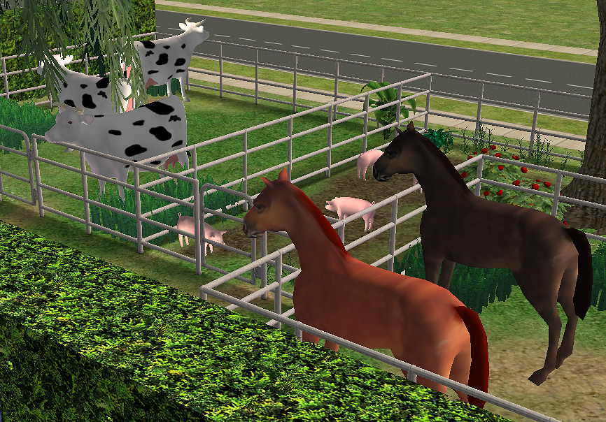 Mod The Sims - Animals for the Farm - Horse, Cow, Pig and