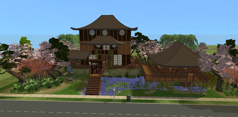 x & Mod The Sims - A Japanese House - Takeyami